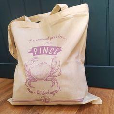 Collection de tote bags Bretons - Accessoire du quotidien pratique, esthétique et drôle ! Adoptez-le ! Tote Bags, Collection, Brittany, Custom In, Accessories, Tote Bag, Totes