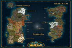 Custom Canvas Wall Decor World of Warcraft Poster World Of Warcraft Map Wallpaper WOW Wall Stickers Game Sticker Mural #2038# #Affiliate