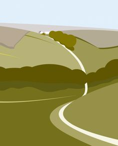 Yorkshire - Leaving Thixendale - Limited Edition Digital Print. http://www.ianmitchell-art.com/index.php/print-gallery/yorkshire-countryside