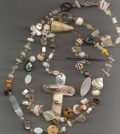 Shell Rosary by jansbeads on Etsy, $80.00