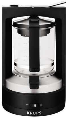 KRUPS Moka Brewer Filter Coffee Maker, Black * Discover this special product, click the image : Coffee Maker Coffee Maker Reviews, Best Coffee Maker, French Press Coffee Maker, Drip Coffee Maker, Coffee Shop, Coffee Geek, Coffee Lovers, Filter Coffee Machine, Espresso Coffee Machine