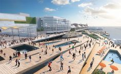 #Pierescape one of the shortlisted proposals for the navy pier competition in Chicago. Really love the expanded network of public landscapes supporting the city's mantra that the lakefront is and will be 'forever open, free and clear'.