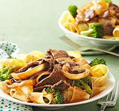 Stroganoff-Style Beef with Broccoli