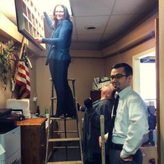 How many Paradiso Insurance employees does it take to change a light bulb?   #paradisoinsurance #staff #workfamily #funny #office #staffordsprings