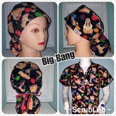 5 great styles for scrub caps, Big Bang is colorful and fun Scrub Caps, I Love Lucy, Ribbon Colors, Big Bang Theory, Comfortable Fashion, Hats For Men, Hair Lengths, Bigbang, Scrubs