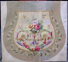 Antique French Painted Aubusson Cartoon