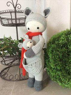 KIRA the kangaroo made by Friederike S.-Sch. / crochet pattern by lalylala