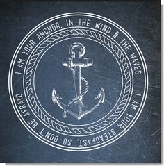 I am your Anchor in the wind & in the waves I am your steadfast, so don't be affraid.