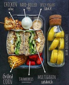 balanced 2500 chicken eggs spicy yogurt grilled corn etc Lunch Meal Prep, Healthy Meal Prep, Healthy Snacks, Healthy Eating, Healthy Weight, Clean Recipes, Lunch Recipes, Diet Recipes, Healthy Recipes