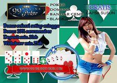 Judi Ceme : 99Onlinepoker Adalah Judi Ceme Online Indonesia Yang Murah Dengan Minimal Deposit 10 Rb saja, Bonus yang menarik & Banyak Tersedia Mega Jackpot Real