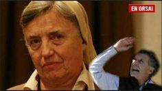 """""""SOY SINCERA LO VOTE A MACRI PERO ESTOY DESILUSIONADA. ESTAN MOSTRANDO LA HILACHA""""      """"Soy sincera lo voté a Macri pero estoy desilusionada. Están mostrando la hilacha""""La monja conocida por su actividad social en el norte argentino dijo estar """"desilusionada"""" por haber votado a Macri ya que """"la sustitución social está mal"""" y """"la línea económica no puede ser"""". """"Prometió que no iba a dejar sin trabajo a la gente"""" se lamentó. La monja Martha Pelloni de la Congregación de Carmelitas Misioneras…"""