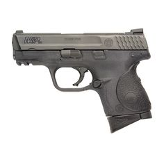 This is a Smith & Wesson Military & Police caliber compact edition. It will likely be my next carry gun. They make one with tactical night-sights and a crimson trace grip laser. Home Defense, Self Defense, Best Handguns, Striker Fired, M&p Shield, Smith N Wesson, Home Protection, Guns And Ammo, Firearms