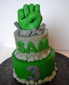 ccscakery   Hulk Smash Cake Hulk Cakes, Boy Cakes, Cakes For Boys, Hulk Birthday, 5th Birthday, Birthday Cakes, Birthday Ideas, Hulk Smash, Cake Smash