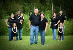 for the extended family pictures, instead of one large group