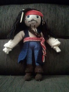Pirates of the Caribbean Jack Sparrow (Needs sleeves on jacket), Ravelry: free pattern