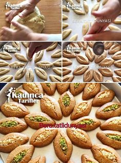 Filled Almond Dessert Recipe, How To? - Womanly Recipes - Delicious, Practical and Delicious Food Recipes Site , Vegan Breakfast Recipes, Vegan Recipes Easy, Dessert Recipes, Desserts, High Calorie Meals, Energy Snacks, Good Foods For Diabetics, Recipe Sites, Turkish Recipes