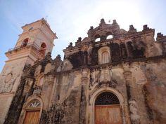 Granada, Nicaragua for the weekend.  Fun travel story and ideas.  Pictured: Iglesia La Merced in Granada, Nicaragua