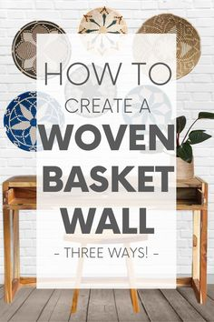 Whether your decor style is Boho, Coastal - even Minimalist - there's a set of woven basket wall decor out there with your name on it! Work In Africa, Gold Walls, Eco Friendly House, Basket Decoration, Baskets On Wall, Coastal Style, Sustainable Design, Minimalist Home, Basket Weaving