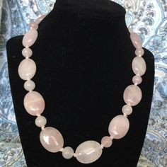 Light pink rounded stone necklace Light pink rounded stone necklace Jewelry Necklaces