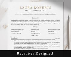 Executive Resume Template, Modern Resume Template, Cv Template, Resume Templates, Resume Tips, Resume Cv, Resume Design, Resume Examples, Marketing Resume