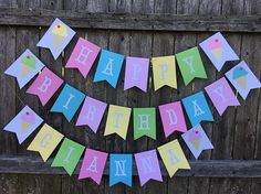 Happy Birthday banner. Ice cream banner. Ice cream party. Girl