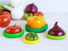 These foods savers, discovered by The Grommet, are reusable wraps that preserve leftover fruits and vegetables.