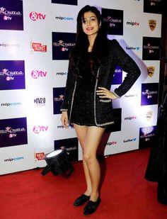 Aakanksha Singh at Tellychakkar's 11th anniversary bash. #Bollywood #Fashion #Style #Beauty #Hot #Sexy