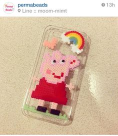 Peppa pig phone case hama beads. Check it out on Instagram