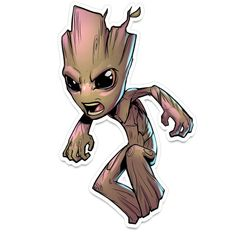 Couldn't decide on which. Since they're technically 2 different groots. Also, I wanted this sticker to stand alone or on another sticker's shoulder. Drawing Cartoon Characters, Character Drawing, Marvel Characters, Cartoon Drawings, Comics Und Cartoons, Marvel Cartoons, Chibi Marvel, Marvel Art, Groot Comics