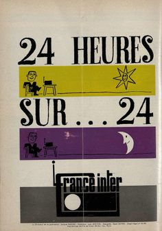 "France Inter, 1966 Page du n°5 de la revue ""Micro et Caméra"" Dessin de Francis Bernard Crédit : ORTF / Radio France"