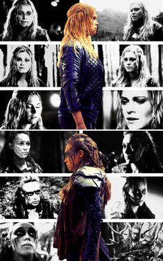 AWESOME graphics. #Clexa #The100  Spread / feature inspiration