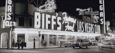 Las Vegas 1959. Street Scene Nighttime.