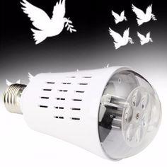 E27 4W 85-265V LED Moving Pigeon Landscape Laser Projector Stage Light Lamp Bulb Decor