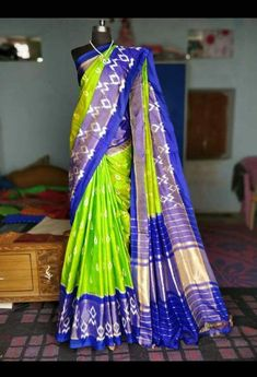 Pochampally pure ikkat Silk sarees, lahengas,duppatas available To order plz msg me in wear sarees wear sarees silk saree ideas wear wear wear