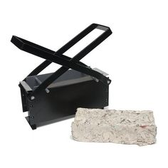 A great way to recycle newspapers! Soak newspaper and compress into the brick maker, allow to dry, and put in stove. Burns about 4 per hour, imported.