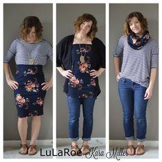 LulaRoe Cassie worn three ways! For more inspiration or to purchase visit: https://www.facebook.com/groups/LularoeKaraMiller/