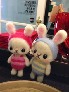 Couple bunny felted wool ^^ Love it order it