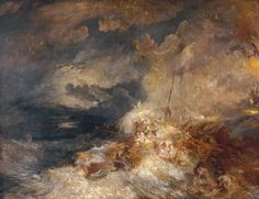 Joseph Mallord William Turner, 'A Disaster at Sea' ?c.1835