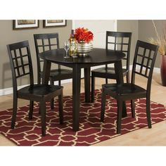 Simplicity Espresso Drop Leaf Dining Table Set | Dining Sets | Discount  Direct Furniture And Mattress