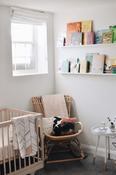 A natural nursery for a baby girl