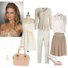 """""""Soft classic"""" by mary-80 on Polyvore ignoring the strapless here, for obvious almost 60yo reasons!"""