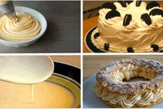 4 лучших рецепта крема: Патисьер, Англез, Пари-Брест и Миндальный крем