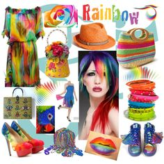 """Rainbow Of Color"" by brightgemsu on Polyvore"
