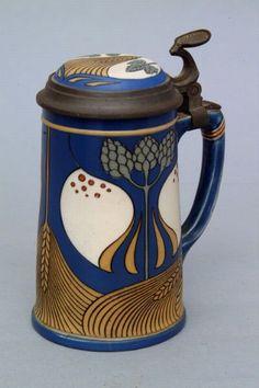 Mettlach Art Nouveau Stein