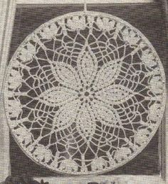 Dreamcatcher doily pattern - in writing! No weird diagram to follow
