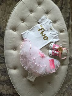 Tutu's and Tennis Shoes - what an adorable toddler girl birthday theme!