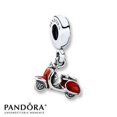 OG - Pandora Dangle Charm Red Enamel Sterling Silver