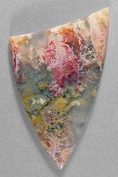 REGENCY ROSE PLUME AGATE designer cab from Oregon Silverhawk's designer gemstones.