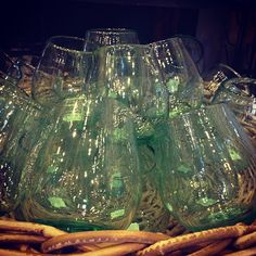 ...back again! our columbia recycled stemless wine glasses!