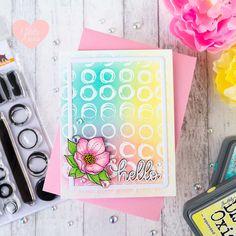 Simon Says Stamp Make Your Mark - 1 Stamp Set 3 Cards by ilovedoingallthingscrafty Beauty Blender Video, Beauty Hacks Video, Frame Crafts, Diy Crafts, Spectrum Noir Markers, Diy Makeup Vanity, Inked Shop, Distress Oxides, Alcohol Markers